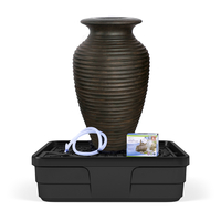 Image Medium Rippled Urn Landscape Fountain Kit