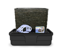 Image Stacked Slate Spillway Wall Fountain Kit