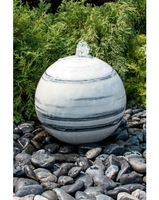 Image White Gray Marble Sphere Fountains
