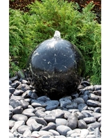 Image Black Flower Granite Sphere