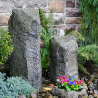 Image Cascade Double Fountain Kit w/ Accent Planter