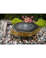 Image Basalt Birdbath Fountain Kit