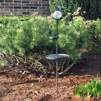 Image Aquarius Birdbath Solar Stake Light