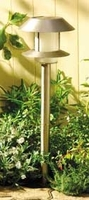 Image Stainless Tier Solar Stake Light