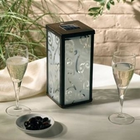 Image Frosted Scroll Solar Lantern