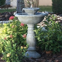 Image Two Tiered Solar Fountain