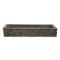 Image Straight Stacked Slate Wall Toppers