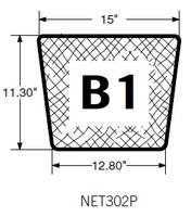 Image Debris Net Skimmer - PondSweep - PSM SK302PSM 15 Top x 12.8 Bottom x 11.3 sides