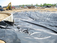 Image Reinforced Woven Polyethylene Pond Liners 150' x 150'