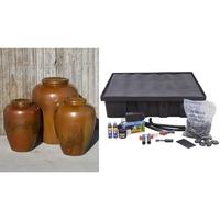 Image Ceramic Vase Closed Top Fountain Kit - 3 Pc. Set