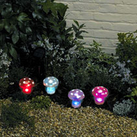 Image Mushroom Solar LED Lights Set of 4