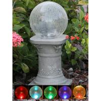 Image Solar Gazing Ball on Pedestal