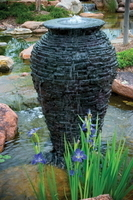 Image Large Stacked Slate Urn Fountain
