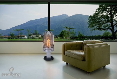 Vulcan BioFuel Freestanding Fireplace by Pureflame