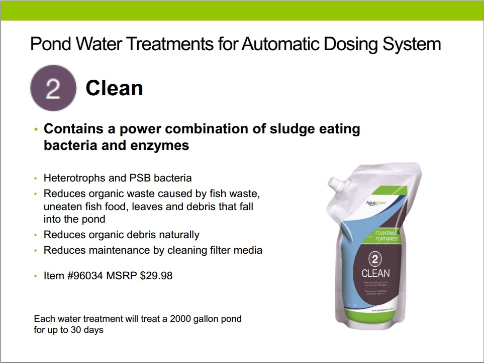 Automatic dosing system by aquascape aquascape water for Pond water system