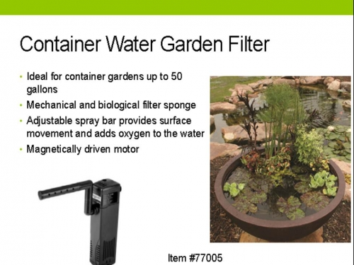 Container water garden filter aquascape pond supplies for Garden water filter system
