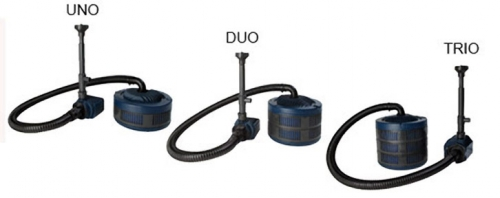 Uno duo trio submersible pond pump filter kits by for Best uv filter for small pond